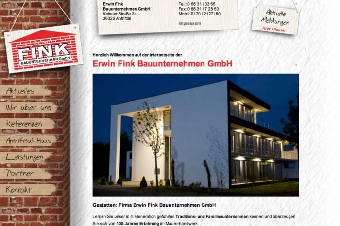 Website Fink Bauunternehmen