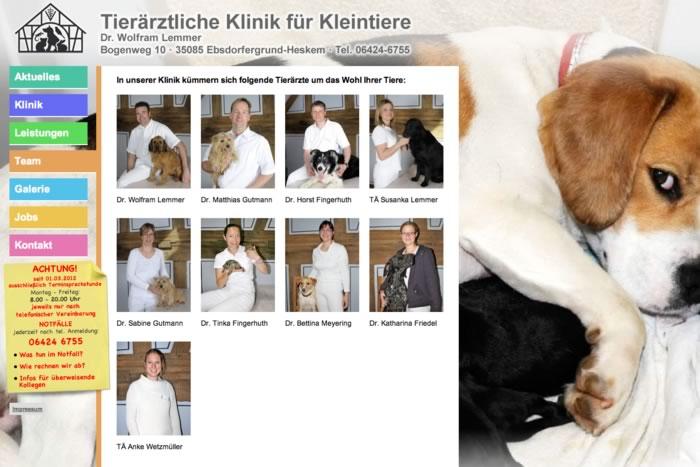 Website Kleintierklinik Lemmer