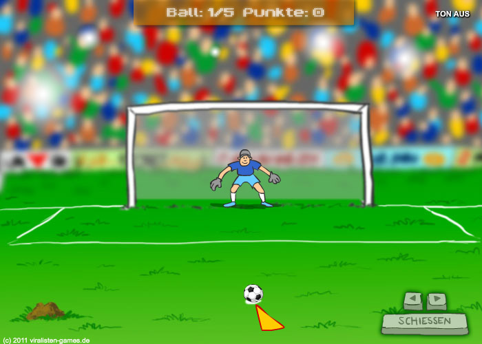 Online-Elfmeterschiessen-Spiel