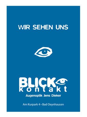 Visitenkarten für Kunde Blickkontakt